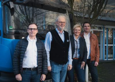 Oberbauleiter Rainer Grischek, Geschäftsführer Wilfied Werner, Geschäftsführerin Janet Siemons-Gormanns, Bauleiter Dirk Siemons (v. l. n. r.)